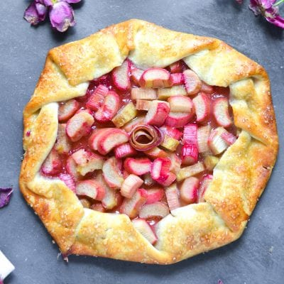 Rhubarb Rose Galette