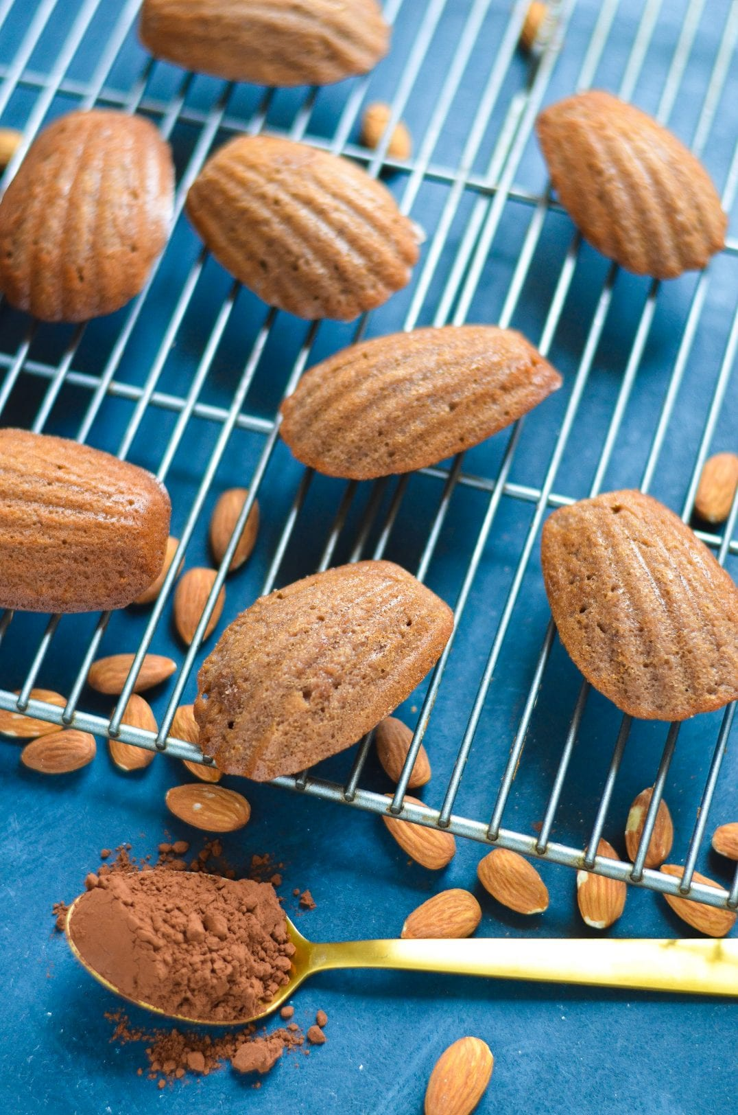 Chocolate Almond Madeleines