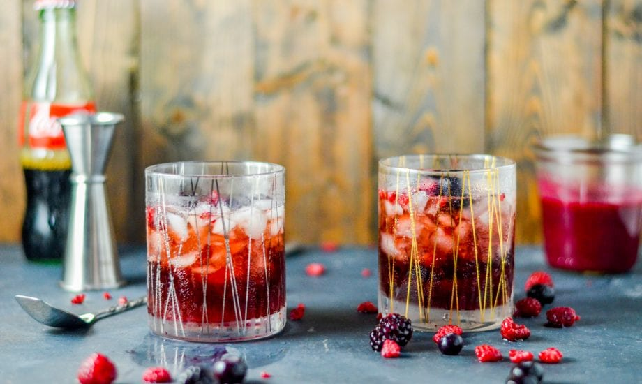Mixed Berry Coconut Rum and Coke