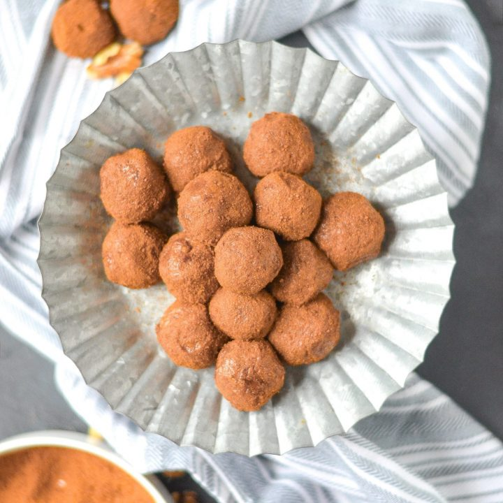 Pumpkin Spice Snickerdoodle Bliss Balls