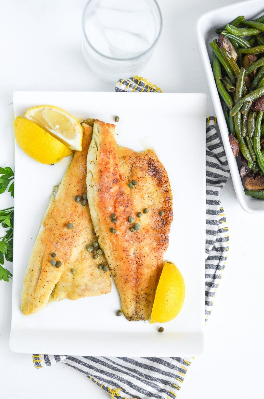 Sea Bass With Lemon Butter Caper Sauce
