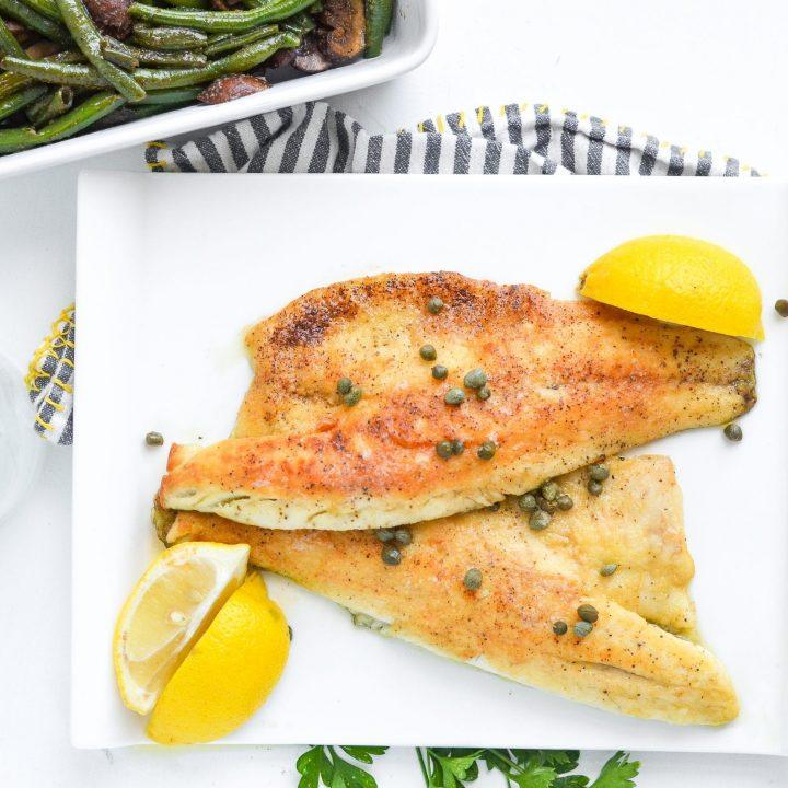 Sea Bass With Lemon Butter Caper Sauce