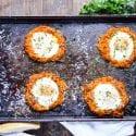 Sheet Pan Eggs and Sweet Potato Hash Brown Nests