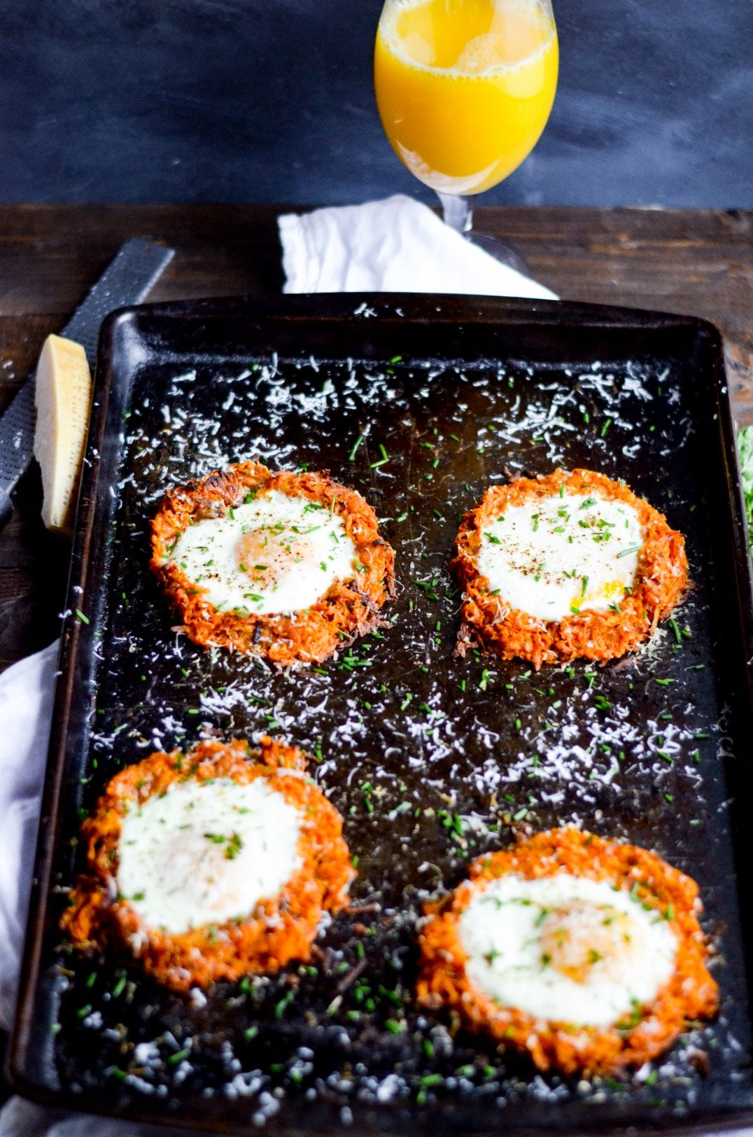 Sheet Pan Eggs and Sweet Potato Hash Brown