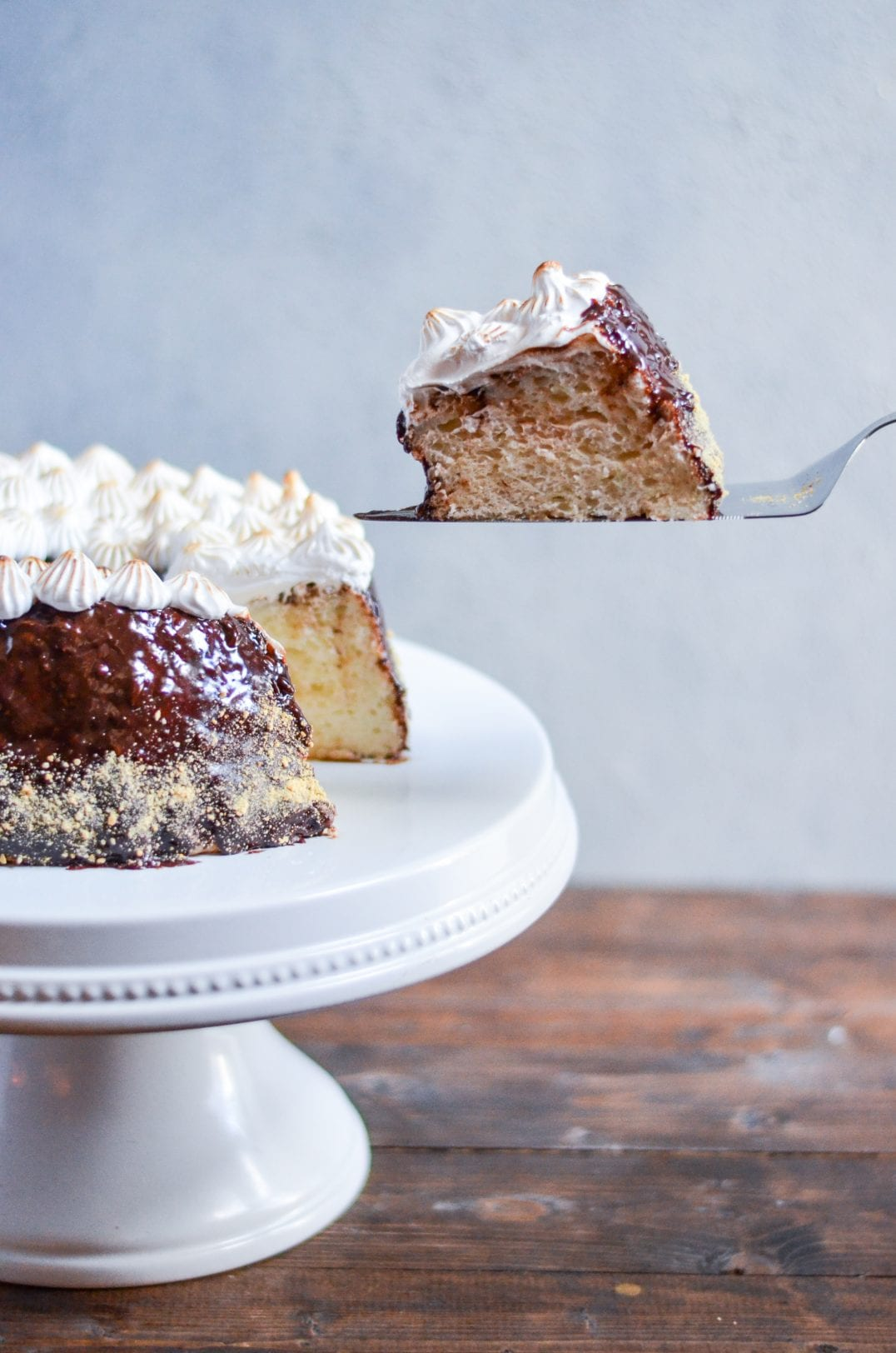 S'mores Angel Food Cake