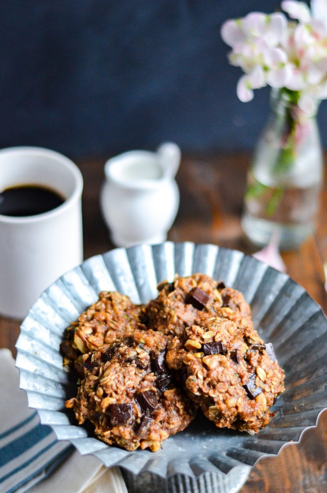 Zucchini Chocolate Chunk Breakfast Cookies