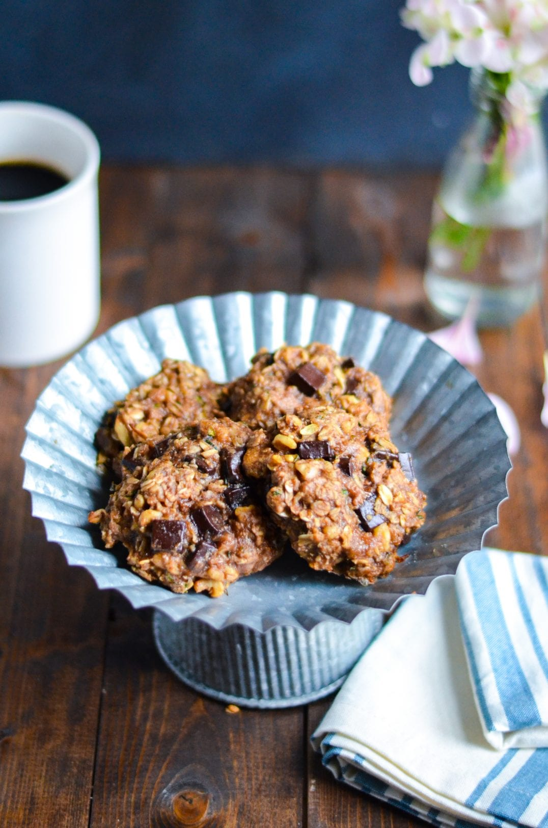 Zucchini Chocolate Chunk Breakfast Cookies