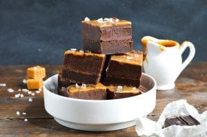 Chocolate Fudge Caramel Swirl Brownies