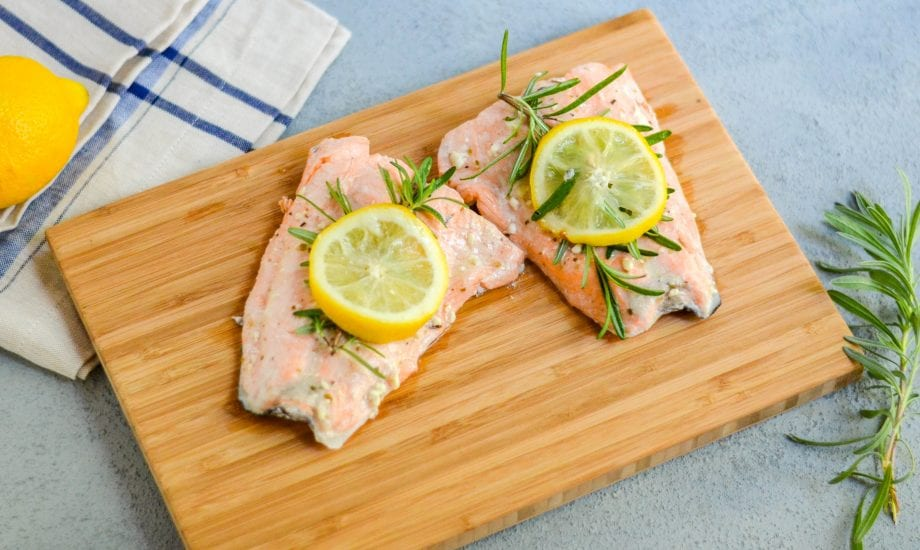Instant Pot Mediterranean Salmon with Tahini Lemon Sauce