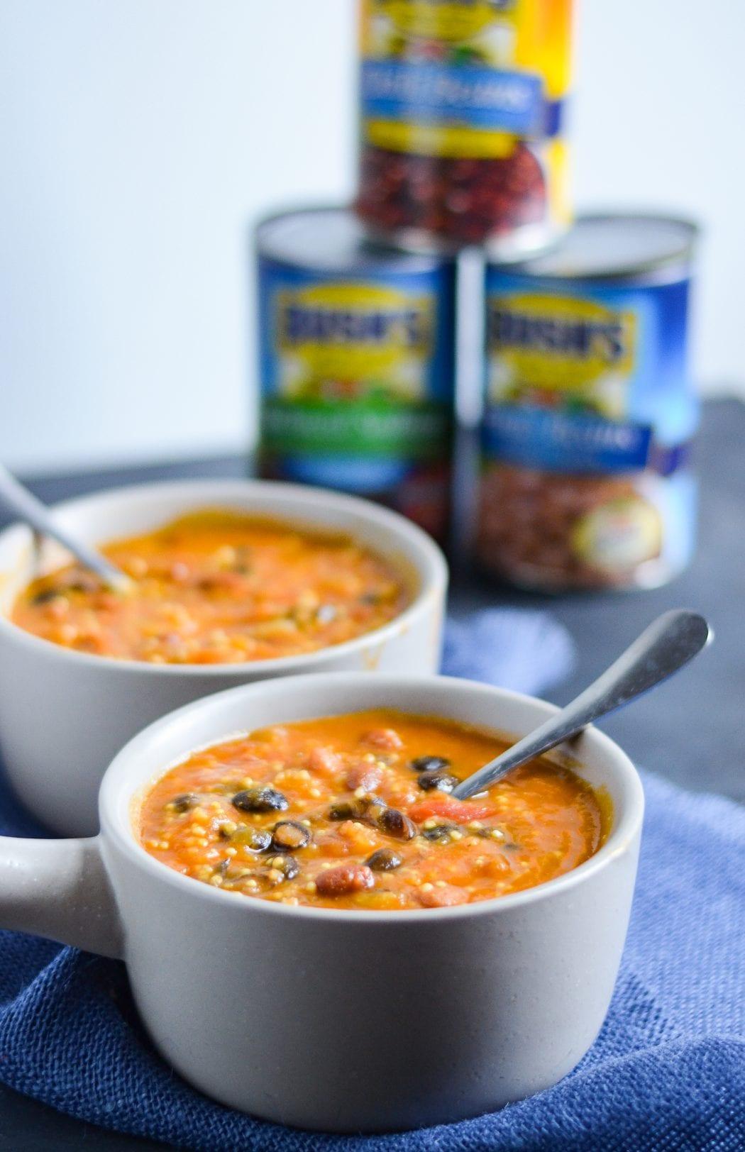 Vegetarian Butternut Squash and Three Bean Chili