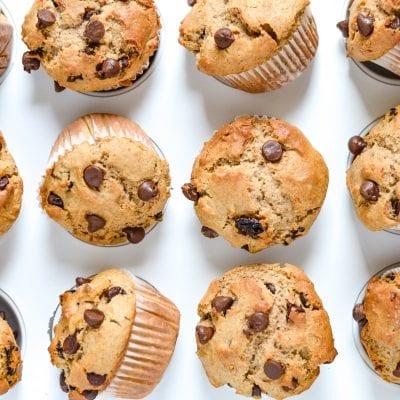 Whole Wheat Chocolate Cherry Muffins