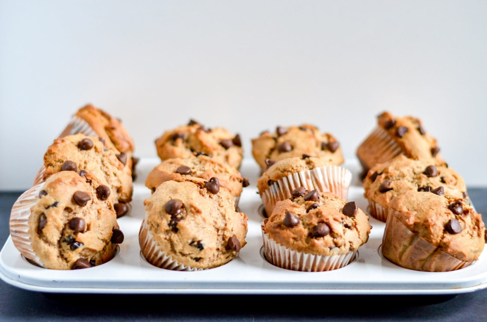 baked muffins in a baking dish
