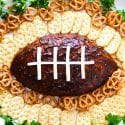 Football BBQ Pulled Pork Cheese Ball