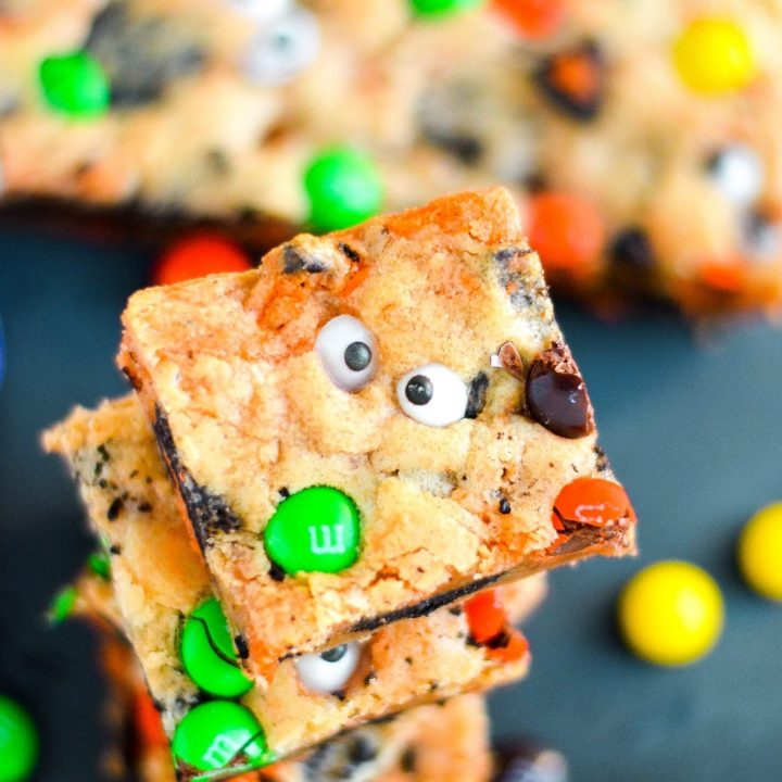 Kitchen Sink Blondies + Halloween Tablescape