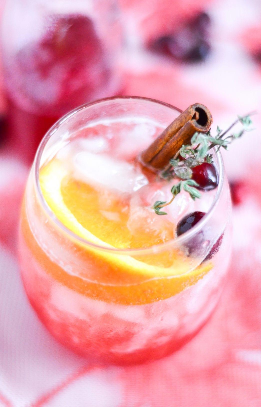 Cranberry Orange Bourbon Crush