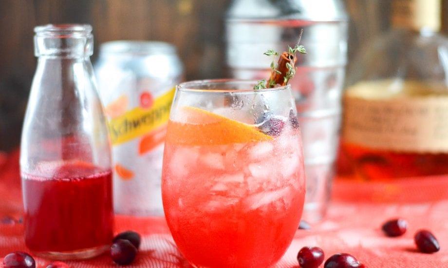 Cranberry Orange Bourbon Smash