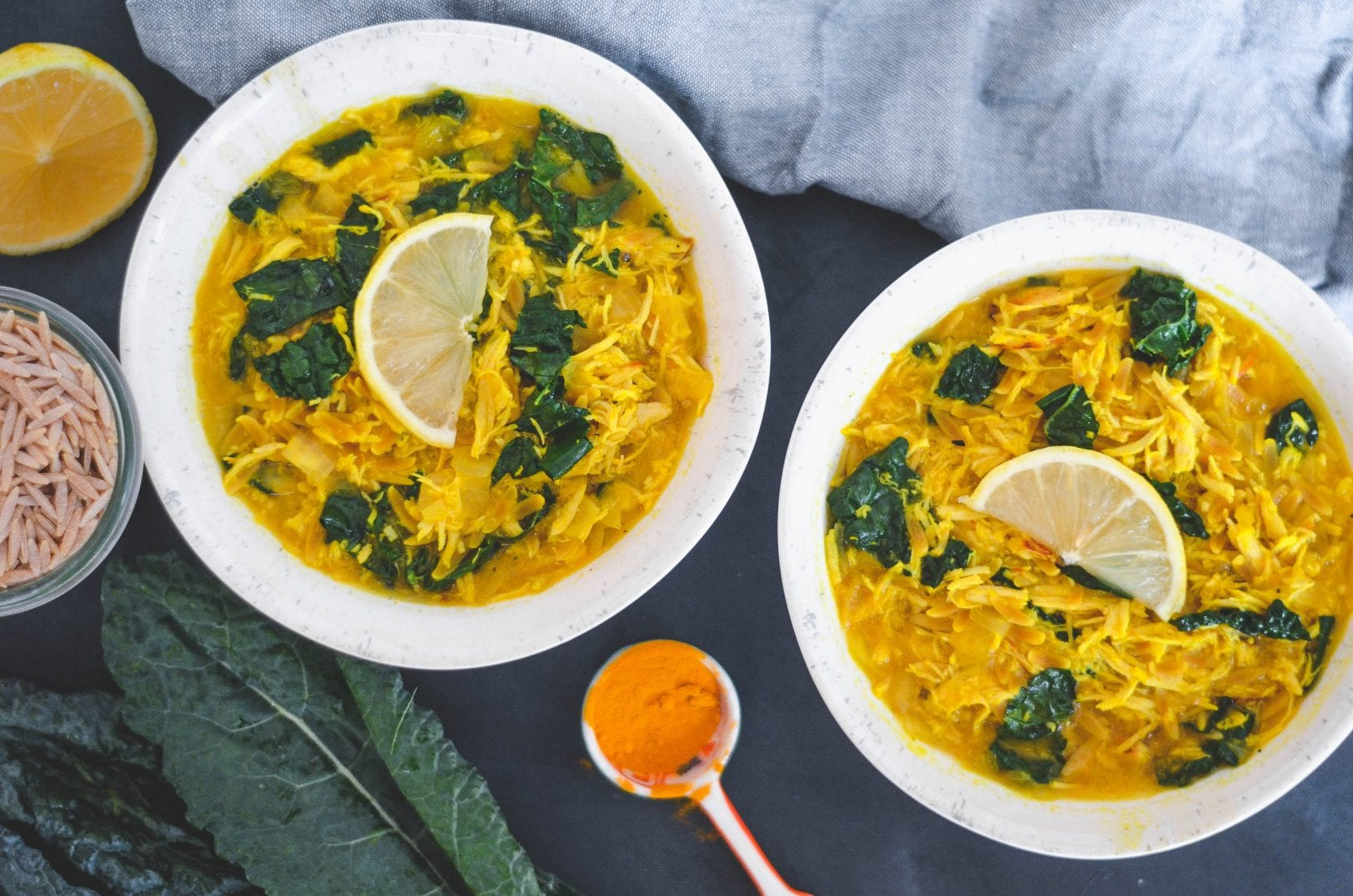Cold-Busting Chicken Orzo Soup