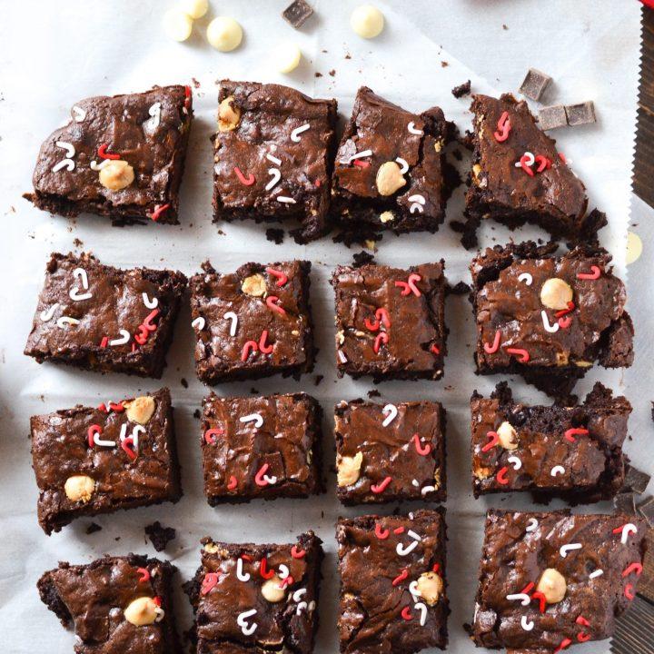 Triple Chocolate Peppermint Brownies