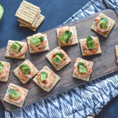 Cajun Shrimp and Avocado Bites with TRISCUIT