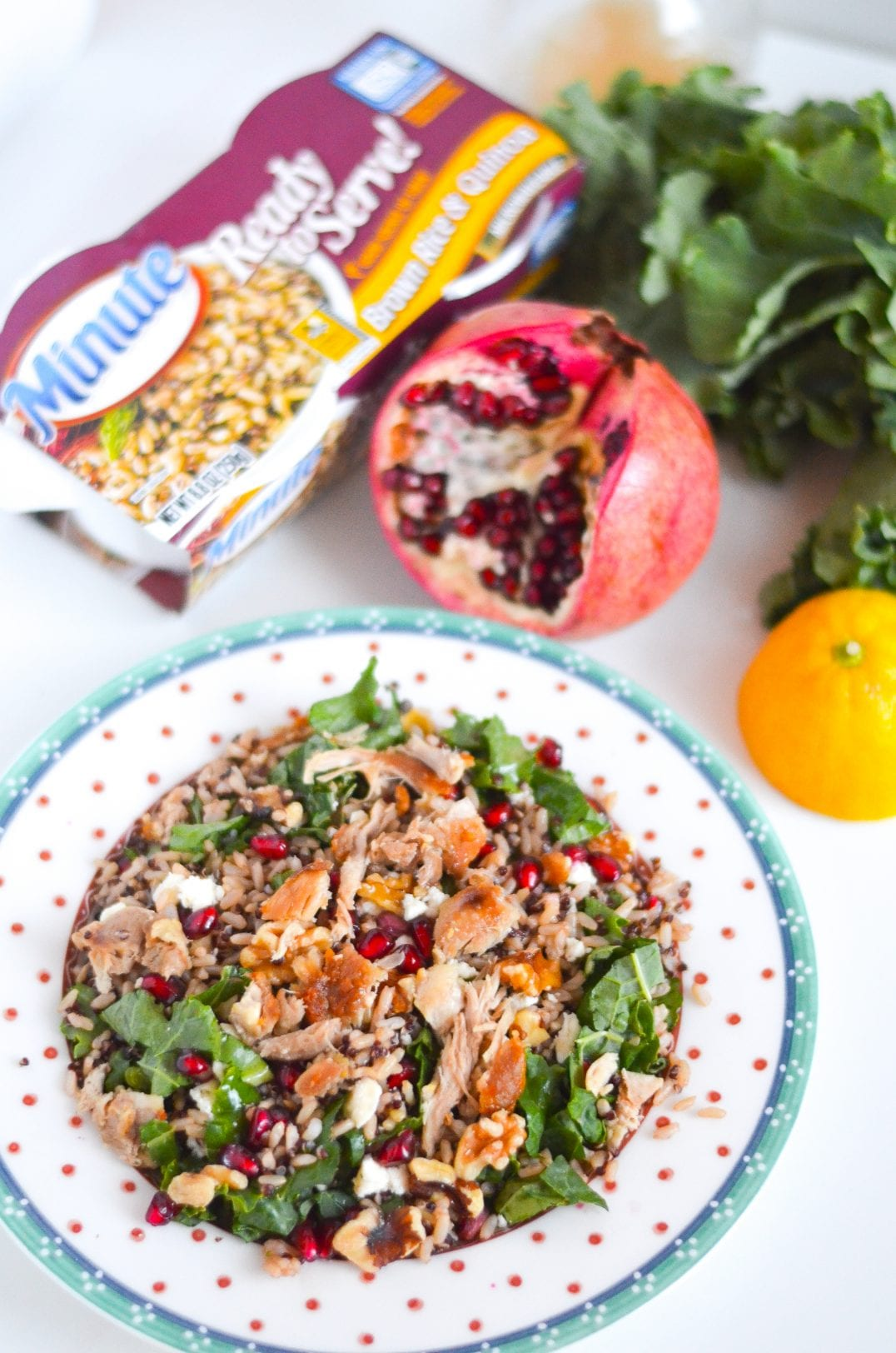 Winter Brown Rice and Quinoa Salad with Lemon Maple Vinaigrette