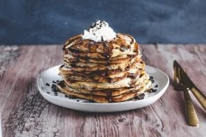 Cookies & Cream Yogurt Pancakes