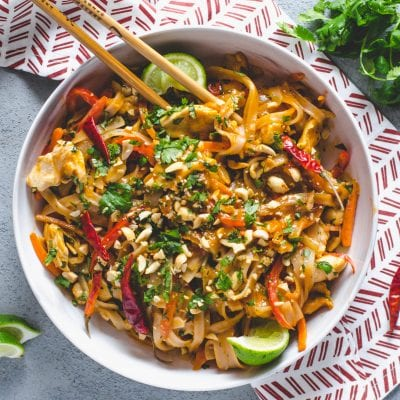 Easy Spicy Chicken Pad Thai