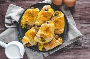 Sausage, Egg, and Cheese Crescent Rolls