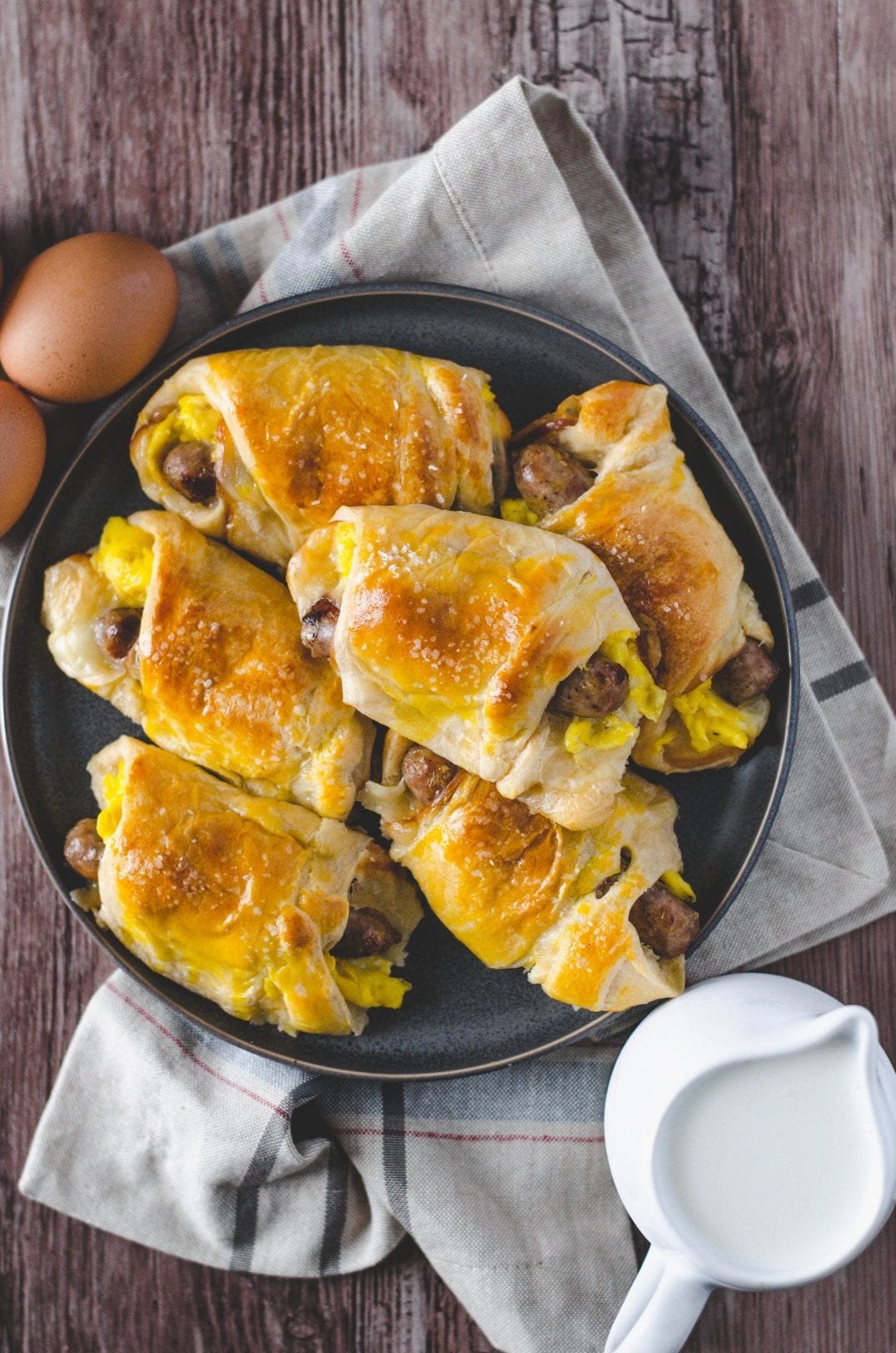 Sausage, Egg, Cheese Crescent Rolls
