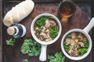 Beef, Onion and Kale Stew