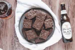 Dark Chocolate Porter Brownies