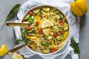Spring Lemon Vegetable Pasta