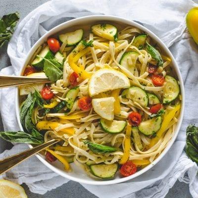 Spring Lemon Vegetable Pasta