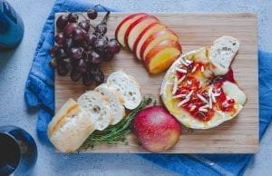 Lemon-Strawberry Baked Brie