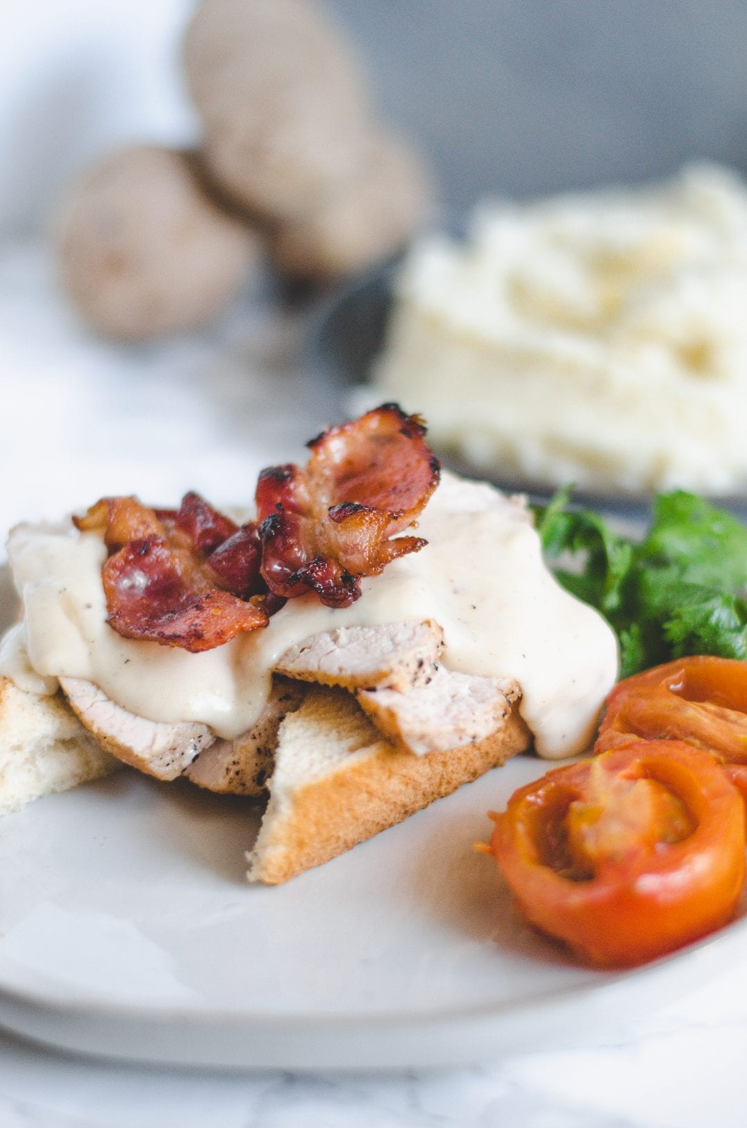 Derby Meal for Two — Garlic Whipped Potatoes and Kentucky Inspired Hot Brown