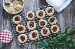 Strawberry Cheesecake Thumbprint Cookies