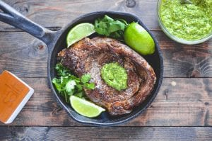 Summer Entertaining: Ribeye with Scallion Cilantro Pesto