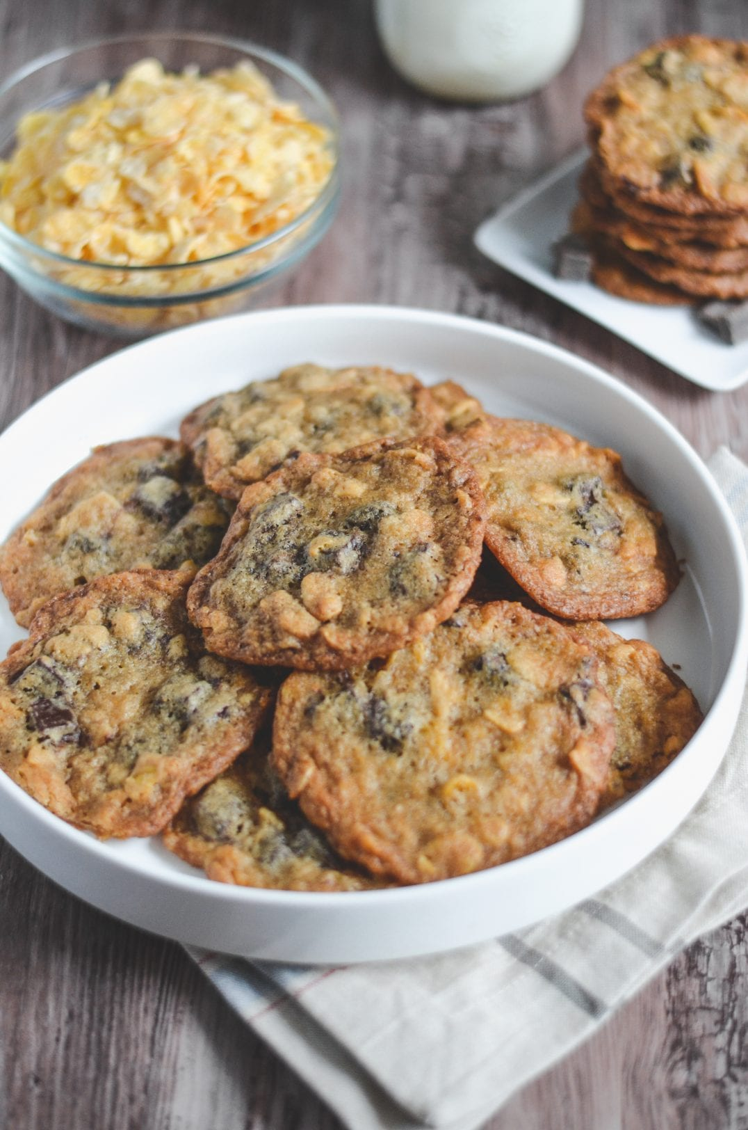 Chocolate Chip Cornflake Cookies