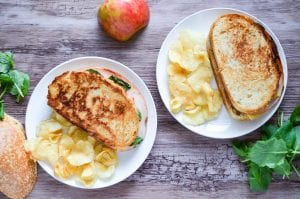 Smoked Turkey, Gouda, Apple Grilled Cheese
