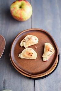 Apple Pierogy Bites with Crème Fraîche