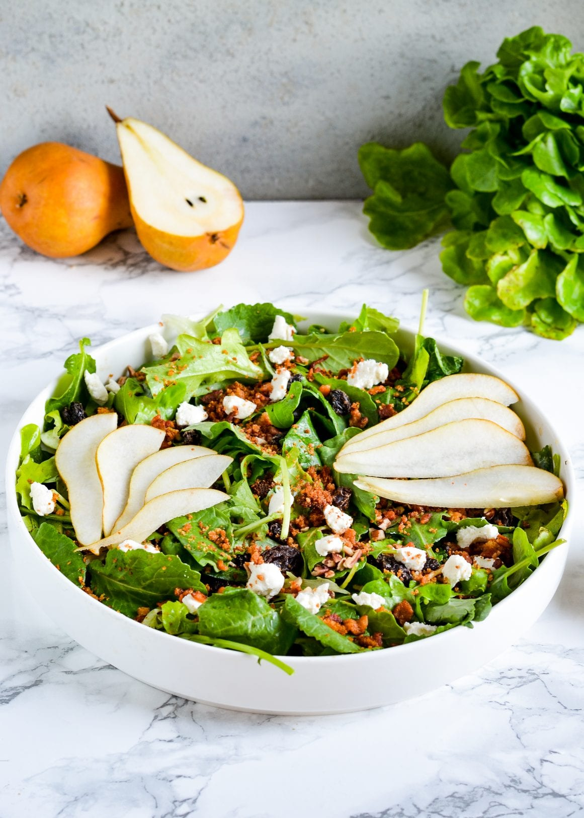 Autumn Salad with Honey Butter Breadcrumbs