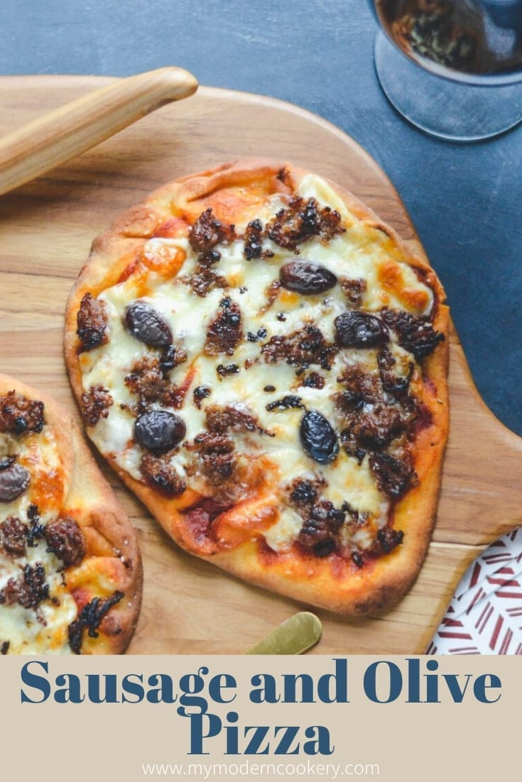 Sausage and Olive Pizza