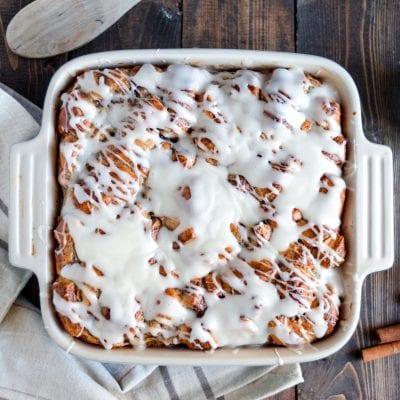 Cinnamon Roll Breakfast Bake