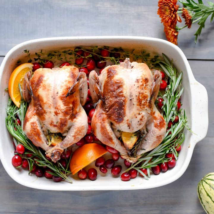 Buttermilk Brined Roasted Cornish Game Hens