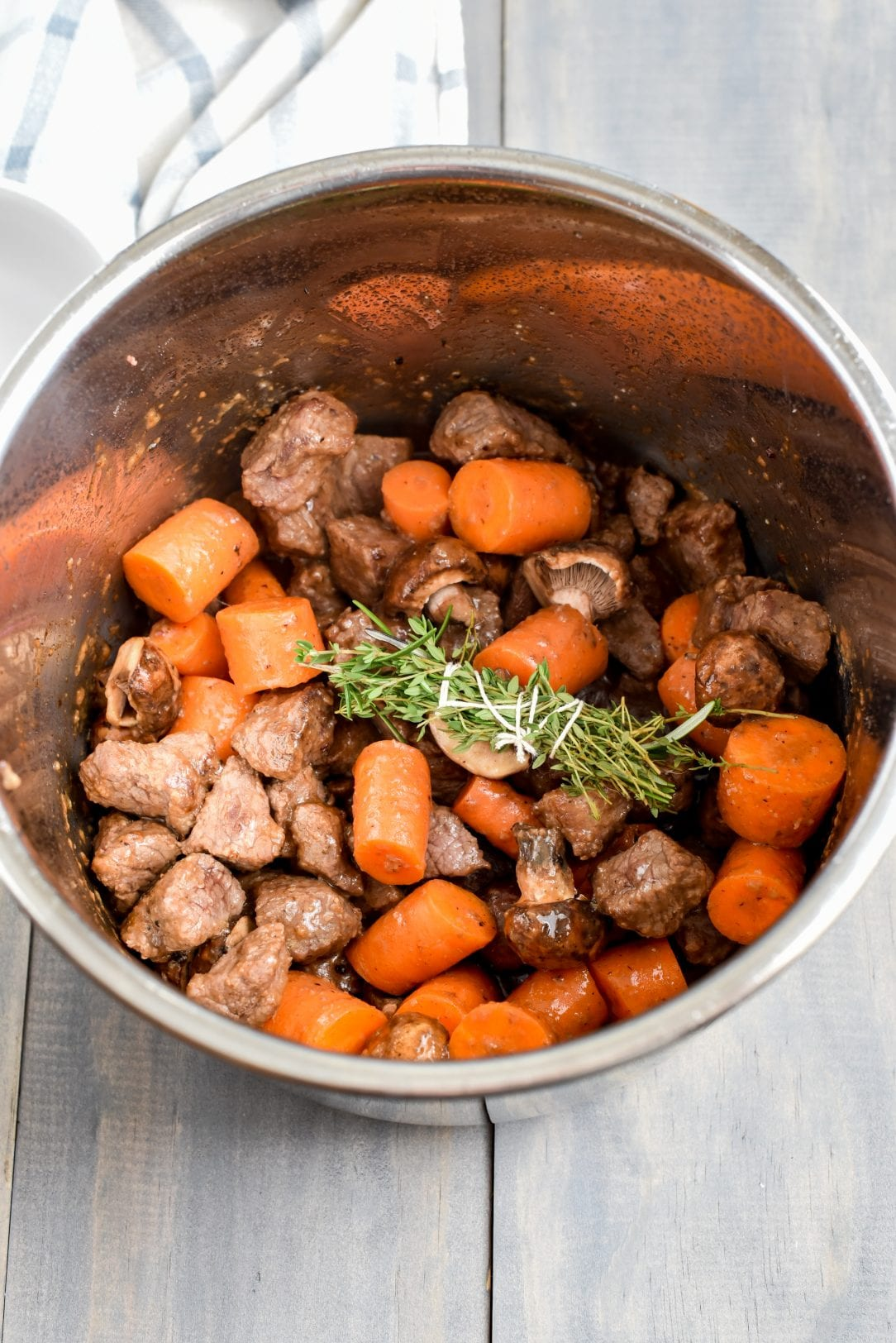 Instant Pot Bourbon Beef Bourguignon