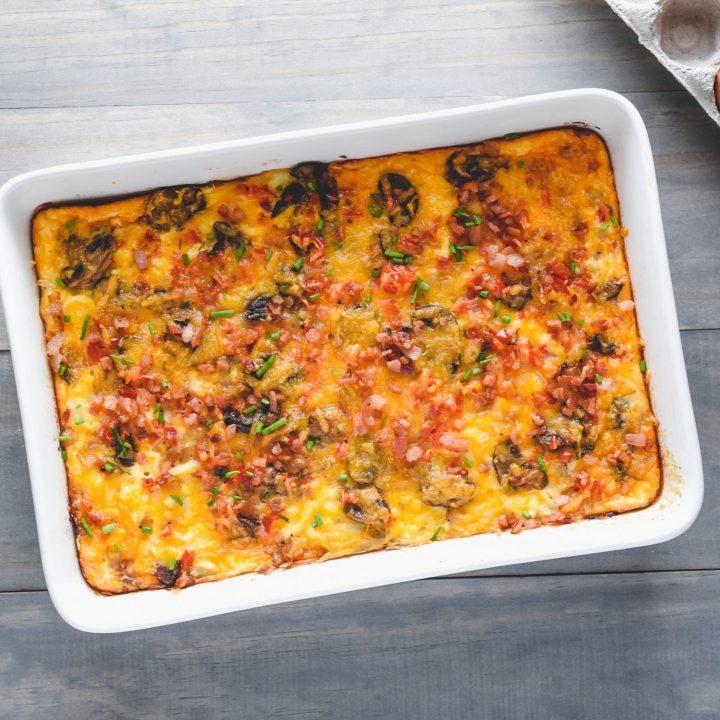Bacon Veggie Breakfast Casserole