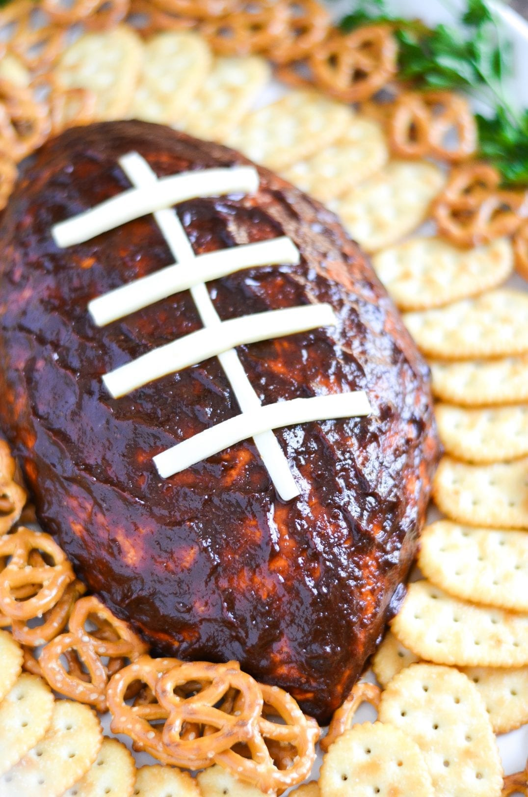 Football BBQ Pulled Pork Cheese Ball