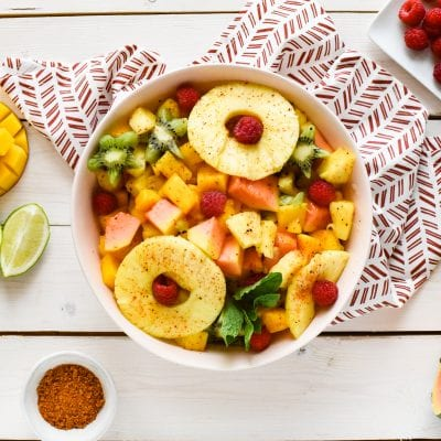 Tropical Fruit Salad with Chili Lime Dressing