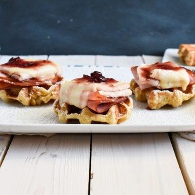 Open-Faced Waffle Monte Cristo