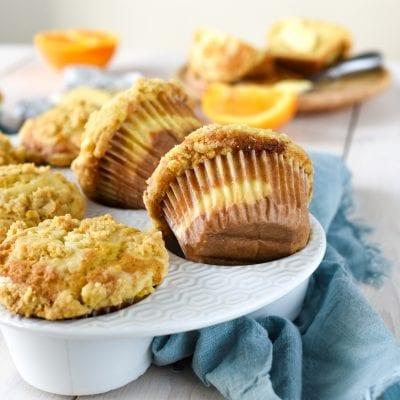 Orange Cheesecake Muffins