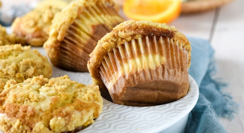 Orange Cheesecake Muffins
